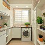 decoração de lavanderia pequena