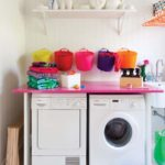 lavanderia com decoração barata