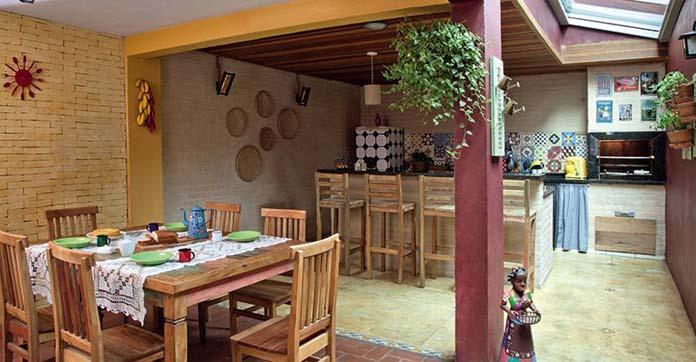 Cozinha gourmet rústica
