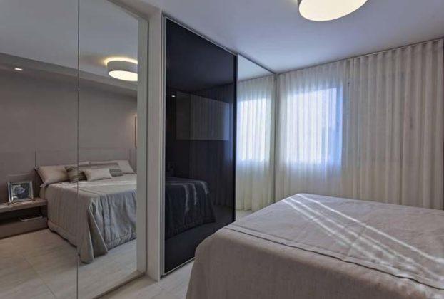 Decoração com espelho para quarto simples