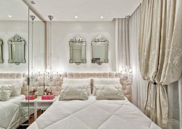 espelho venezianos em quarto