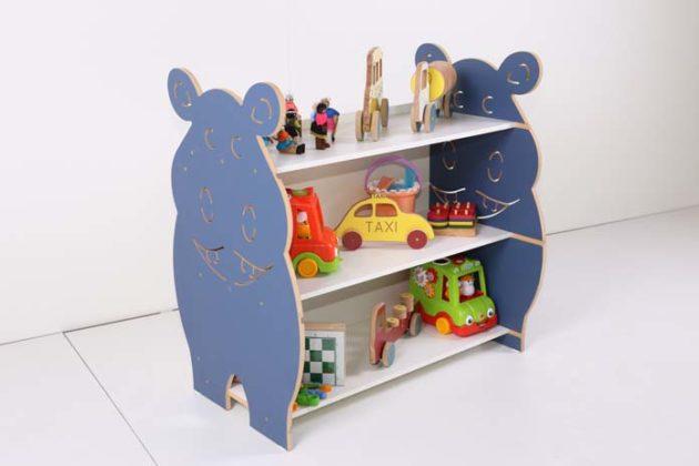 Estante infantil para brinquedos