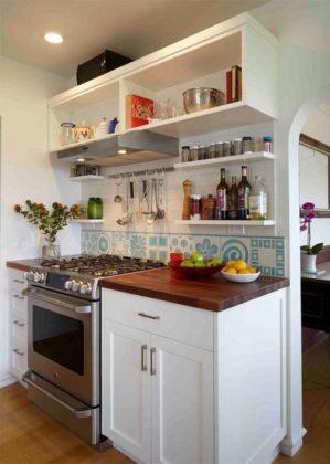 Prateleira para cozinha pequena