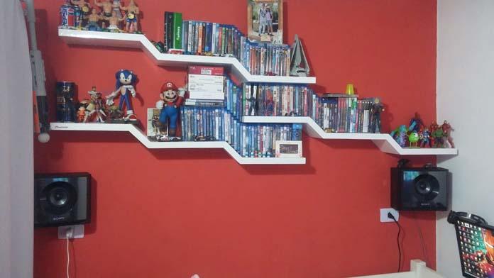 Prateleiras e nichos para quarto gamer