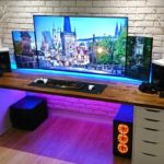 Quarto gamer com LED