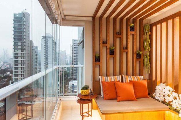 Decoração de varanda de apartamento