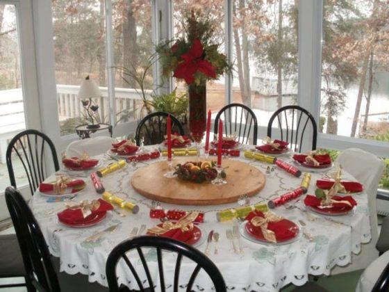 Enfeites de natal para a mesa
