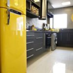 Geladeira amarela
