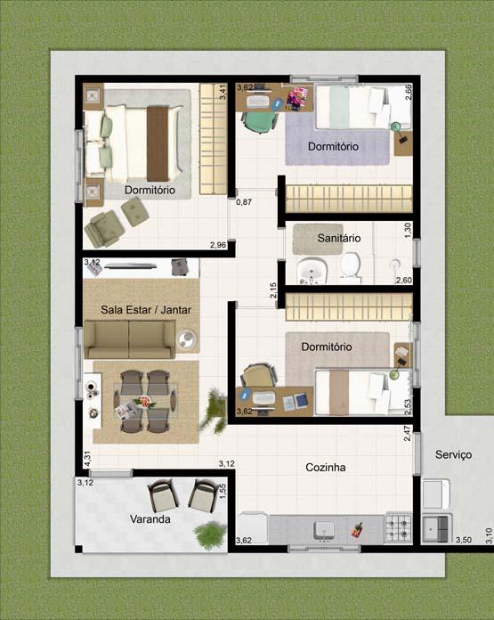 casa moderna 70m2 decorar apartamento novo de 70m2 s o