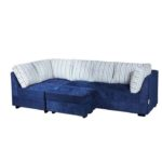 Sofá azul de canto