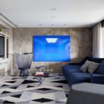 Sofá azul marinho