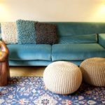 Sofá azul turquesa