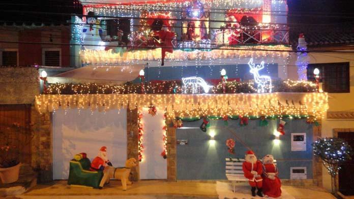 decoração natalina na fachada