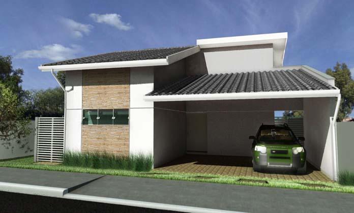 Casas com varanda e garagem