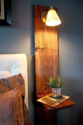 Abajures feitos de madeira