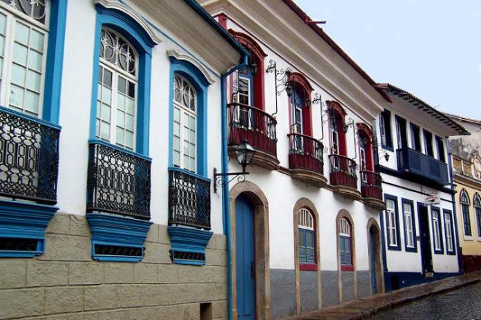 Arquitetura colonial na cidade de Ouro Preto.