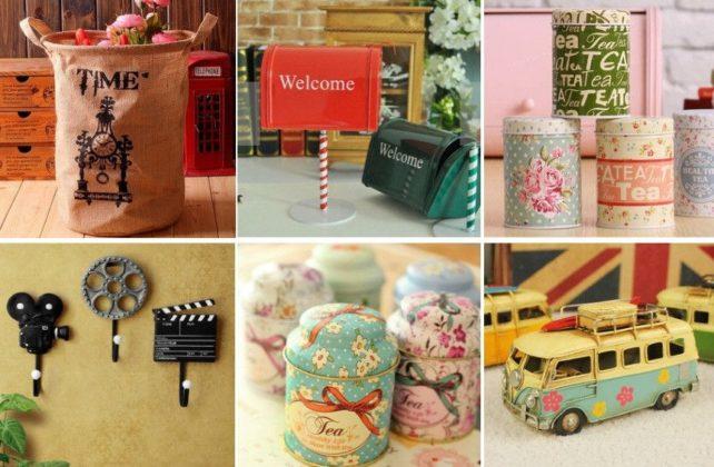 objetos de decoração vintage