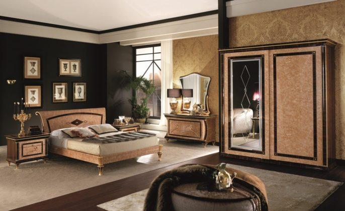 quarto com decoração Art Nouveau