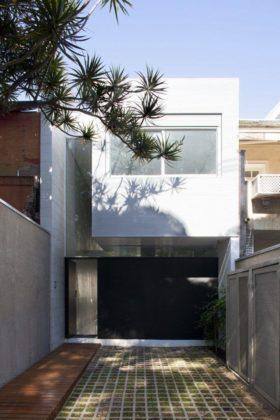 Casa pequena contemporânea