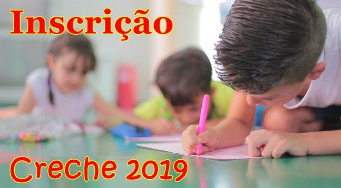 Inscrição Creche escola 2019