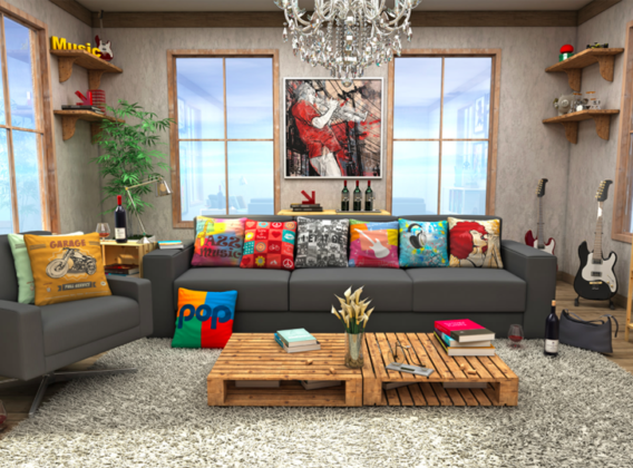 almofadas sala de estar