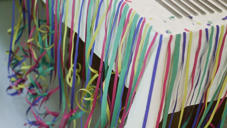 decoração fitas carnaval