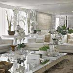 espelhos na sala de estar
