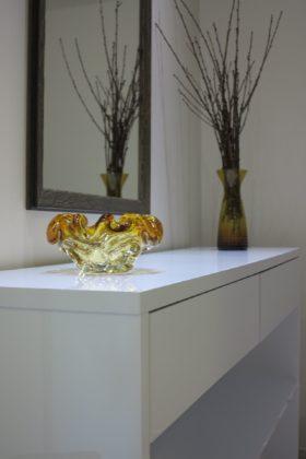 Peças de decoração em vidro