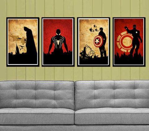 parede de quarto nerd