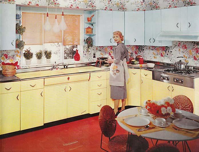 Decoração de cozinha anos 60