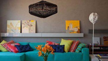 decoração coloridas