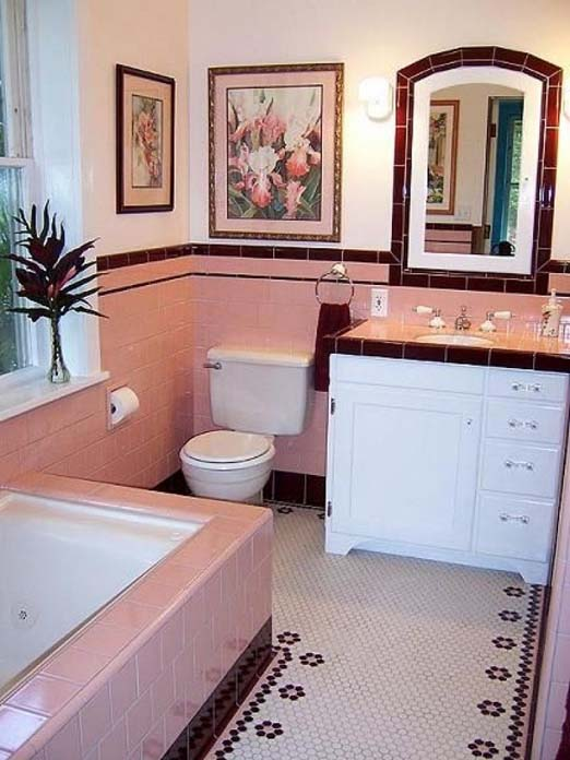 Decoração de banheiro nos anos 50