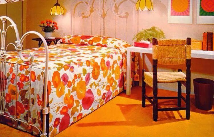 Decoração de quarto nos anos 60
