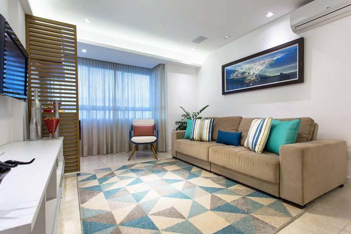 decoração de sala com tapete