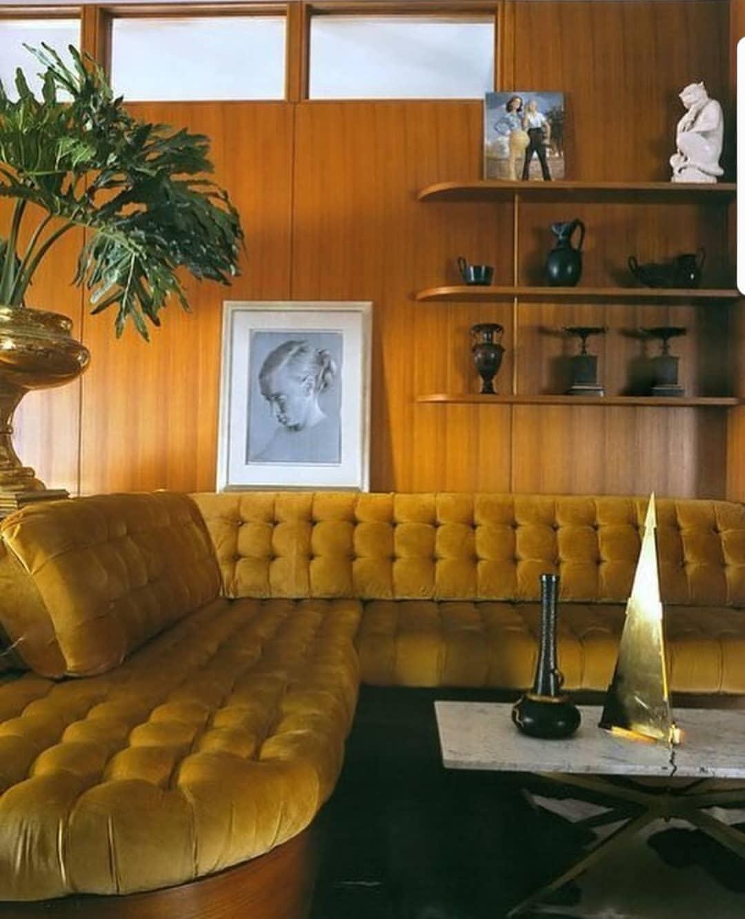 Decoração de sala anos 70