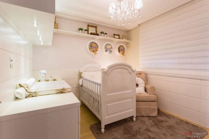 quarto de bebê para meninas em rosa claro