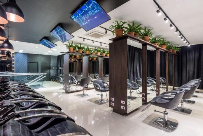 Salão de beleza super moderno de alto luxo