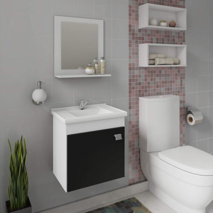 Prateleiras para um banheiro pequeno e para ganhar espaço