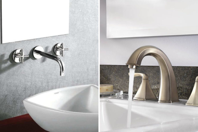 Modelo de torneira de banheior para parede e para pia