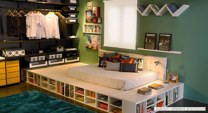 base da cama feitas de caixas organizadoras