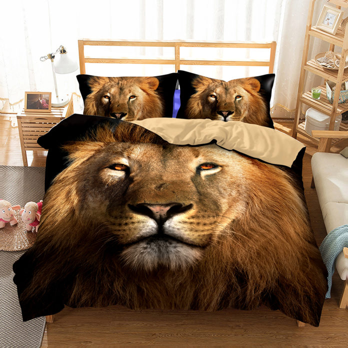 roupa de cama do rei leao