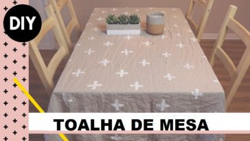 toalha de mesa DIY