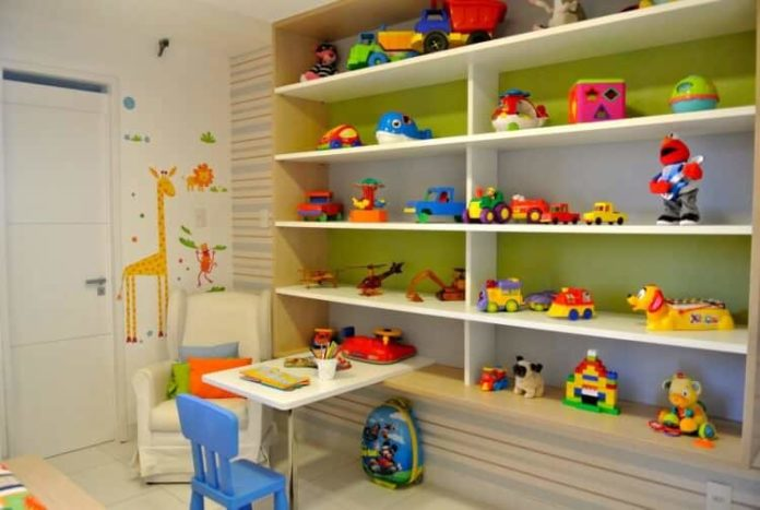 Organização para o quarto de brinquedos