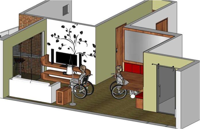 Espaço para cadeira de rodas