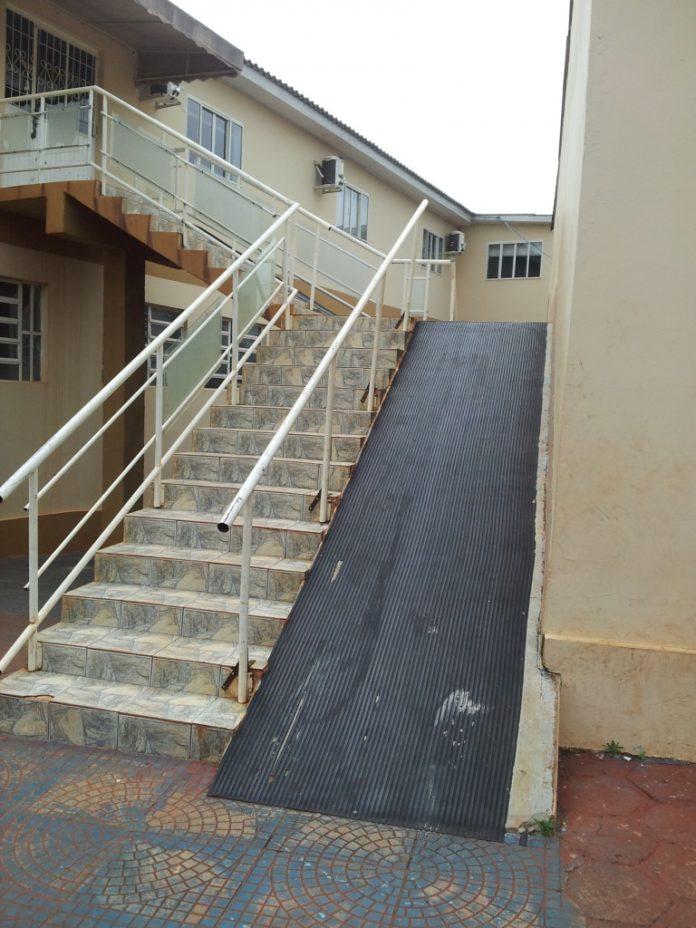Rampa para acessibilidade para segundo andar