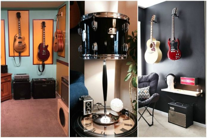 diversos instrumentos para decoração