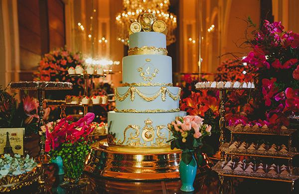 Decoração com bolo estilo princesa
