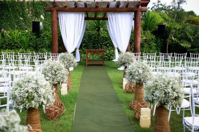 casamento ao ar livre em sitio