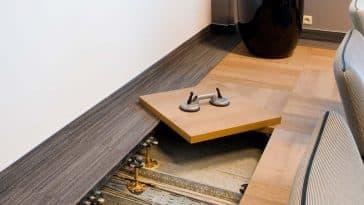 piso elevado com madeira