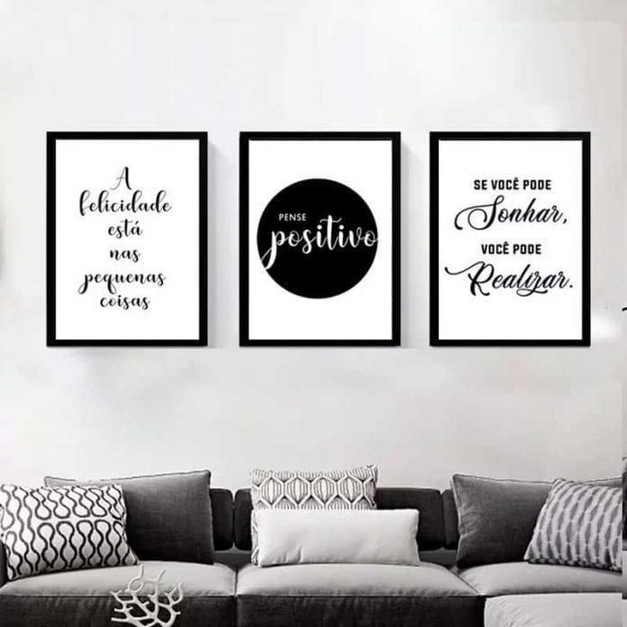 decoração com frases motivacionais
